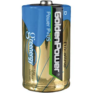 2er Pack Golden Power Mono, D Batterien GOLDEN POWER GLR20ASP2