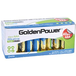 40er Pack Golden Power Micro, AAA Batterien GOLDEN POWER GLR03AVB40