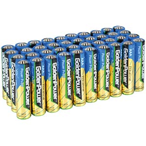 Pack of 40 Golden Power AAA batteries GOLDEN POWER GLR03AVB40