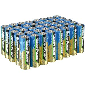 Pack of 40 Golden Power AA batteries GOLDEN POWER GLR6AVB40