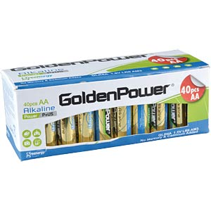 40er Pack Golden Power Mignon, AA Batterien GOLDEN POWER GLR6AVB40