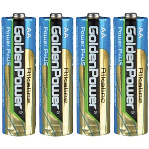 Pack of 4 Golden Power AA batteries GOLDEN POWER GLR6ASP4