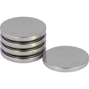 Lithium knoopcel, 3 V, 210 mAh, 20,0x3,2 mm, 5 stuks GP-BATTERIES 0602032C5
