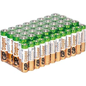 44er-Pack Batterien, Alkaline Mignon / Micro GP-BATTERIES