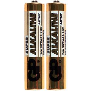 Pack of 2 GP alkaline batteries, LR3 GP-BATTERIES GP24A/S2