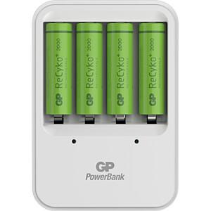 Stekkeroplader PB420, NiMh, incl. 4x AA (mignon) batterijen GP-BATTERIES 130420GS200AAHCC4