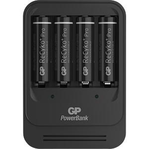Stekkeroplader PB570, NiMh, inclusief 4x AA (mignon) batterijen GP-BATTERIES 135570GS210AAHCBC4