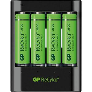 Bureaulader U421, NiMh, incl. 4x AA (mignon) batterijen GP-BATTERIES 130421USB270AAHCC4