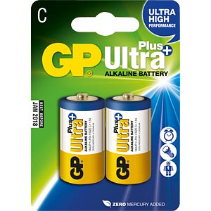 Ultra-Plus, Alkaline Batterie, C (Baby), 2er-Pack GP-BATTERIES 030.14AUP-U2