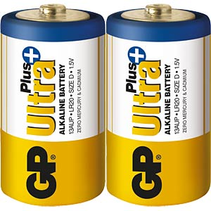 Pack of 2 GP-Ultra Plus, Mono D GP-BATTERIES 030.20AUP-U2