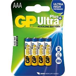 Pak van 4, GP-Ultra Plus, Micro AAA GP-BATTERIES 030.24AUP-U4