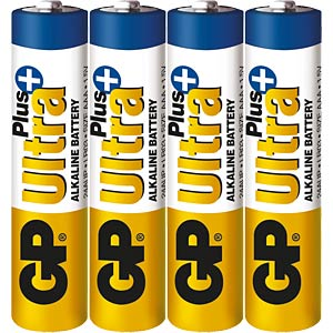 4er Pack GP-Ultra Plus, Micro AAA GP-BATTERIES 030.24AUP-U4