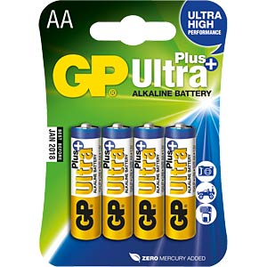 4er Pack GP-Ultra Plus, Mignon AA GP-BATTERIES GP15AUP-2U4