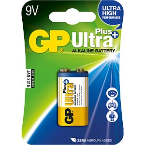 1er Pack GP-Ultra Plus, 9-V Block GP-BATTERIES 030.1604AUP-U1