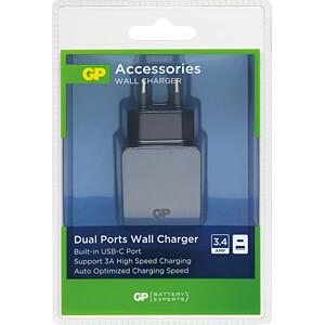 USB-Ladegerät WA51, 5 V, 2400 mA, USB-C GP-BATTERIES 150GPWA51C1