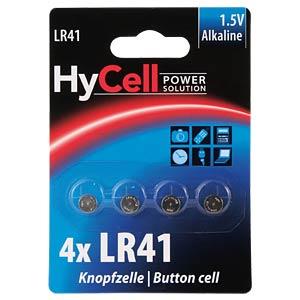 Alkaline Knopfzelle, 75 mAh, LR41, 4er-Pack HYCELL 1516-0025