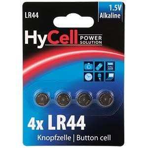 Alkaline Knopfzelle, 140 mAh, LR44, 4er-Pack HYCELL 1516-0024