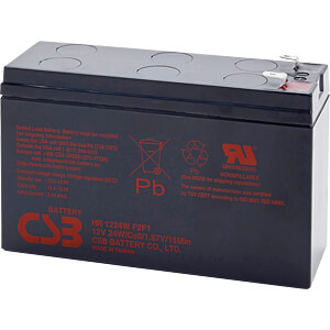 Blei-Vlies-Akku, Hochstromakku, 12 V, 24 W CSB HR1224WF2F1
