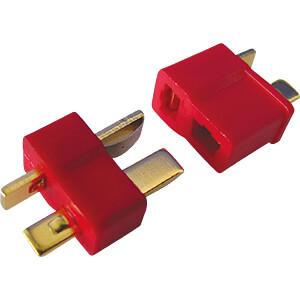 Steckverbinder für Li-Polymer-Akkus, 2-polig, T-Stecker JAMARA 90092