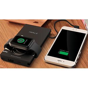 Powerbank, Li-Po, 10000 mAh, USB, Lightning, Apple Watch-Lader IWALK SBW001-001A