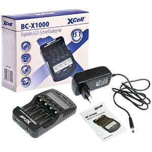 XCell BC-X1000 microprocessor-controlled rapid charger XCELL 137156