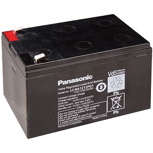 Lead battery, 12 volt, 12 Ah, 151 x 98 x 94 mm PANASONIC LC-RA1212PG