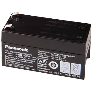 Lead battery, 12 volt, 1.3 Ah, 50 x 97 x 48 mm PANASONIC LC-R121R3PG