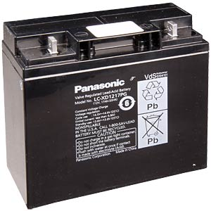 Lead battery, 12 volt, 17 Ah, 181 x 76 x 167 mm PANASONIC LC-XD1217PG