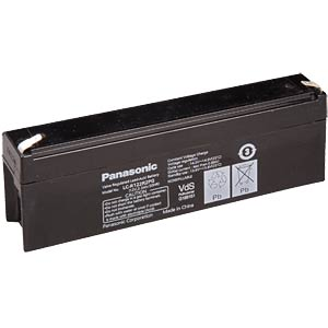 Lead battery, 12 volt, 2.2 Ah, 66 x 177 x 34 mm PANASONIC LC-R122R2PG