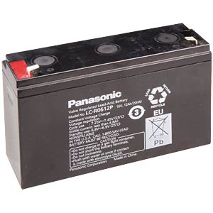 Lead battery, 6 volt, 12 Ah, 94 x 151 x 50 mm PANASONIC LC-R0612P