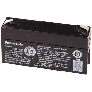 Lead battery, 6 volt, 1.3 Ah, 50 x 97 x 24 mm PANASONIC LC-R061R3PU