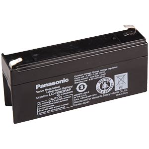 Lead battery, 6 volt, 3.4 Ah, 66 x 134 x 34 mm PANASONIC