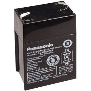 Lead battery, 6 volt, 4.5 Ah, 102 x 70 x 48 mm PANASONIC