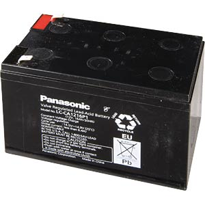 Loodaccu, 12V, 7,2 Ah, 94x151x65mm, 6,3mm PANASONIC LC-R127R2PG1