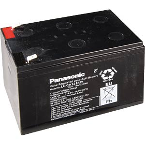 Cyclic lead-acid batteries, 12 V, 15 Ah PANASONIC LC-CA1215P1