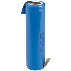 Lithium ion manganese battery 1300mAh 3.6V FREI US18650VT3+LFZ