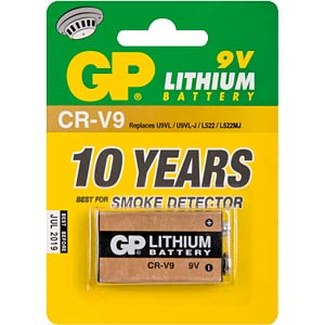 GP Lithiumzelle, 9 Volt-Block, 800mAh GP-BATTERIES 070.CR9V