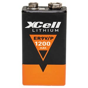 XCELL Lithiumzelle, 9 Volt-Block, 1200mAh XCELL CR9V/P