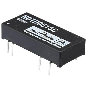 DC/DC Konverter NDT-Serie 3W, 15V/-15V  DC, SIP, Dual MURATA POWER SOLUTIONS NDTD0515C