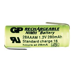 GP 2/3 AAA industrial cell, NiMh, 400 mAh, solder lug GP-BATTERIES 40AAAM1A1P