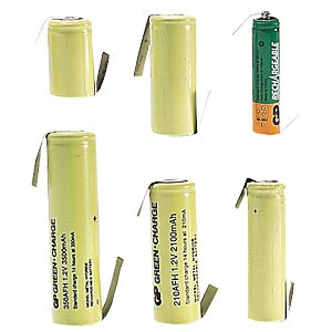 NiMH industrial cell, GP, 1,2V, 2/3AA, 750mAh, 14,5x28,7 GP-BATTERIES 301.75AAH-C1
