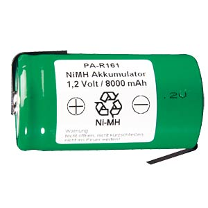 NiMh industrial cell with solder lug, 9000 mAh FREI