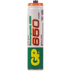 GP micro battery, 2x 650 mAh GP-BATTERIES 65AAAHCE-2CPUWC2