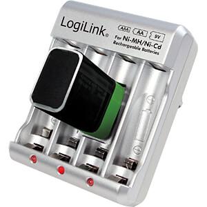 Steckerladegerät, NiCd, NiMh, 9V-Block LOGILINK PA0168