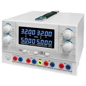 Stabilised laboratory power supply unit, 2x 0 - 30 V/0 - 5 A PEAKTECH 6210
