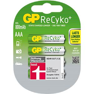 GP ReCyKo+ batteries, 4x micro, 800 mAh GP-BATTERIES 125.85AAAHCB-UC4