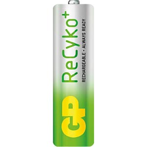 GP ReCyKo+ batteries, 4x mignon, 2000 mAH GP-BATTERIES 125.210AAHCB-UC4