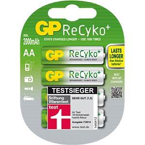 GP ReCyKo+ Akkus, 4xMignon, 2000mAH GP-BATTERIES 125.210AAHCB-UC4