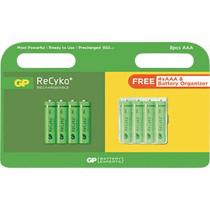 RECYKO 4+4AAA PR - ReCyko, NiMh Akku, AAA (Micro), 950 mAh, 4+4er-Pack inkl. Box