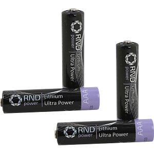 Lithium Batterie, AAA (Micro), 1200 mAh, 4er-Pack RND POWER RND 305-00011
